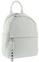 Рюкзак кожаный белый W 18028j
