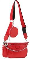 Сумка в сумке кожаная с цепью Farfalla Rosso R 5811-5j