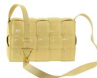 Сумка клатч плетеная желтая Polina & Eiterou W 815-8